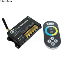 Free shipping DC5-24V 2.4G RF wireless led color temperature controller with remote for led strip bar rigid light