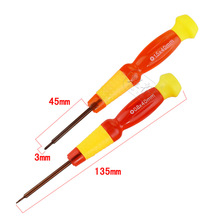 500pcs High Quality 45mm/135mm T2 T3 T4 T5 T6 Slotted PhillipsTransparent crystal screwdriver Free Shipping