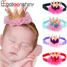 Baby Crown Headbands Cute Girl Princess Hair Band Infant Toddlers HeadWrap Bebes Flower Headwear Hair Accessories BalleenShiny