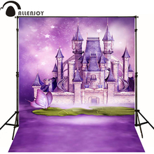 Allenjoy Photographic background Castle butterfly purple stars newborn photography photo for studio send rolled  wood