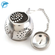LINSBAYWU Stainless Steel Loose Teapot Shape Tea Leaf Infuser With Tray Lovely Convenient Spice Drinking Strainer Herbal Filter(China)