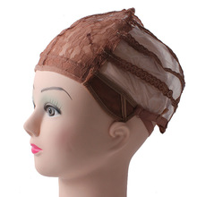 10 PCS/Lot Best Selling Brown Wig Hair Caps For Making Wigs Adjustable Lace Hair Mesh Nets(China)