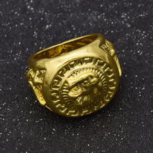 fashion lychee New Fashion Hip Hop  Punk Lion Head Finger Ring Charm Alloy Men Jewelry