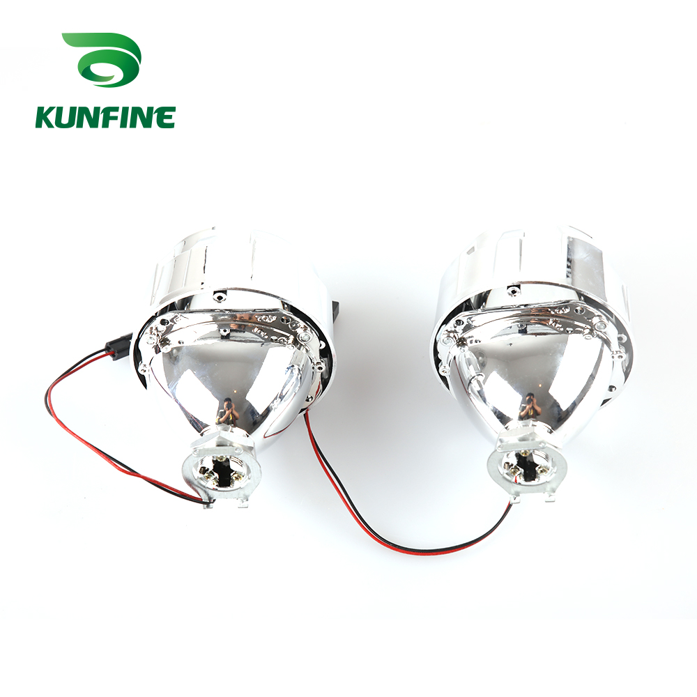 KUNFINE 2PCSlot 2.5 inch Bi-Xenon HID Projector Lens With high low beam for car headlight H1 halogen or xenon bulb (7)