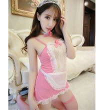 Buy Sexy maid lingerie Women Costume Lovely Female Maid Classical Lace Sexy Miniskirt lolita maid Sexy Costume Sex Products Women