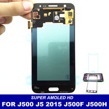 AMOLED LCD For Samsung Galaxy J5 2015 J500 J500F J500G J500M J500H Display 20 Pins Touch Digitizer Screen With Bright Adjustment(China)