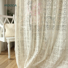 100% cotton Greece vintage crochet curtain for living room Finished curtain for living room bedroom(China)