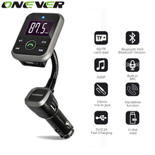 Onever Bluetooth Kit Car FM Transmitter With USB Charger Car MP3 Player FM Modulator Support USB SD TF Card Wireless Handsfree
