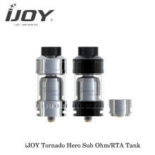 100% Original IJOY Tornado Hero Two Post Build Deck RTA Sub Ohm Tank 25mm Diamater Electronic Cigarette Fit 510 Thread Box Mod(China)
