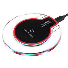 Brucebing portable Round Wireless Charger Charging Pad For Samsung Galaxy  S6 Edge S6 Edge+ Plus Lumia 920 HTC 8X LG3