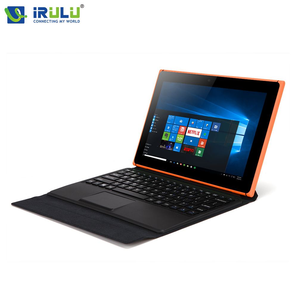 iRULU 10.1'' Quad Core Tablet PC Windows 10 1280*800 Intel Z8350 Laptop 32G 2 In 1 Notebook 2MP+5MP Detachable Keyboard gifts(China (Mainland))