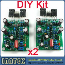 L7 MOSFET high speed FET power amplifier Kit DIY board 2 channel , Free Shipping