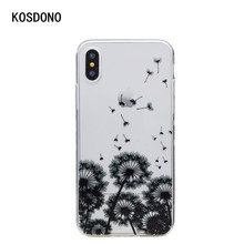 Painting silicone case for iPhone X clear soft tpu colorful diamond pattern mobile phone case unti-knock protection case(China)