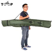 190cm Fishing Bag Portable Folding Fishing Rod Carrier Canvas Fishing Pole Tools Storage Bag Case Fishing Gear Tackle Dark green(China)