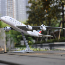 PLANE MODEL AIRBUS A380 SCALE 1/250 AEROBUS AIRLINER AIR FRANCE REPLICA(China)