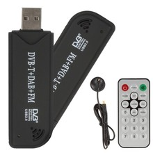 FM+DAB / DVB-T USB 2.0 Digital TV tuner Stick DVBT Dongle TV Receiver + Remote Control