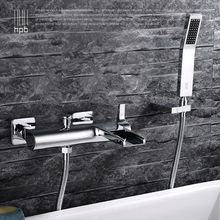 HPB Brass Waterfall Bathroom Hot And Cold Water Bathtub Mixer Rotary Shower Faucet torneira banheiro HP5009