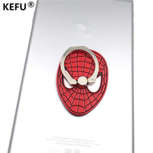 KEFU super hero Magnetic Car Cell Phone Case For iPhone Samsung Sony Huawei LG Xiaomi Stand Holder Metal Finger Ring Accessories