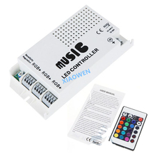 LED Controler 24 Keys 12-24V Wireless IR Remote Control LED Music Sound Control RGB led Controller Dimmer for RGB LED Strips(China)