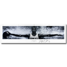 Michael Jordan Wings Art Silk Fabric Poster Print 13x44 24x82inch Basketball Sport Picture for Living Room Wall Decoration 063(China)