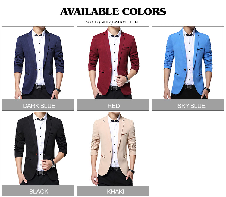 17 Autumn Fashion slim fit Mens blazer Burst models high quality Suit Jacket for Men free delivery Male blazers size 4XL 5XL 4