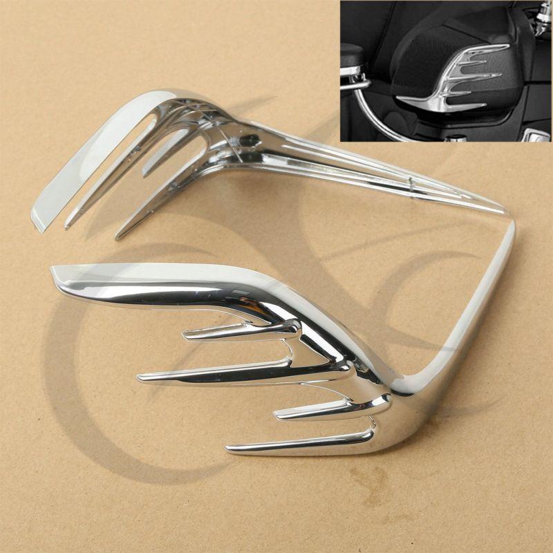 Motorcycle Chrome Passenger Speaker Outer Trim For Honda Goldwing GL1800 06-15<br>