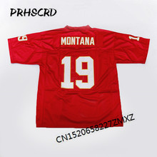 Retro star #19 Joe Montana Embroidered Throwback Football Jersey(China)