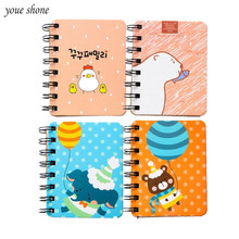 YOUE SHONE 1Pcs/lot Student Lap Coil This Mini Laptop Stationery Portable Notepad Notebook