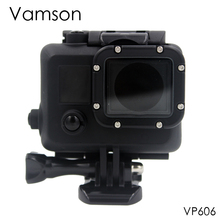Vamson for Go Pro Accessories Cool Dark 35M Diving Camera Waterproof Housing Case Cover for Gopro Hero 4 3+ Sport Camera VP606
