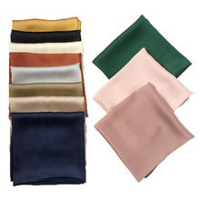 Newest luxury brand bags TWILL SCARF women's silk scarf fashion lady square scarves soft shawls pashmina solid color bandana