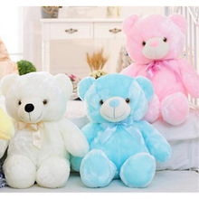 30cm 50cm 80cm Creative Light Up LED Teddy Bear Stuffed Animals Plush Toy Colorful Glowing Teddy Bear Christmas Gift for Kids(China)