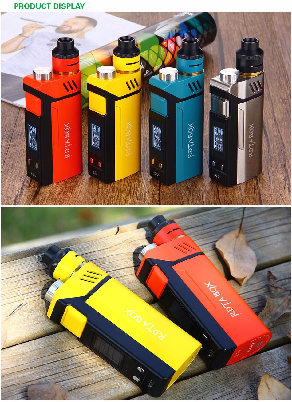 Original IJOY RDTA BOX Mod 0W +12.8ml Large e-juice Tank Atomizer & RDTA BOX MOD & IMC-3/IMC-Coil 3 Coils e-Cigarette 7