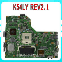 Original for ASUS K54LY K54H X54H X54LY motherboard K54LY REV2.1 Mainboard DDR3 PGA989 Fit K54HR X54HR 100% tested