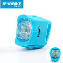 Leadbike 2016 New Bike Light 2 Modes Silicone Bicycle Tail Light MTB Road Bicycle Accessories 5 Colors Battery Operated Hot Sale