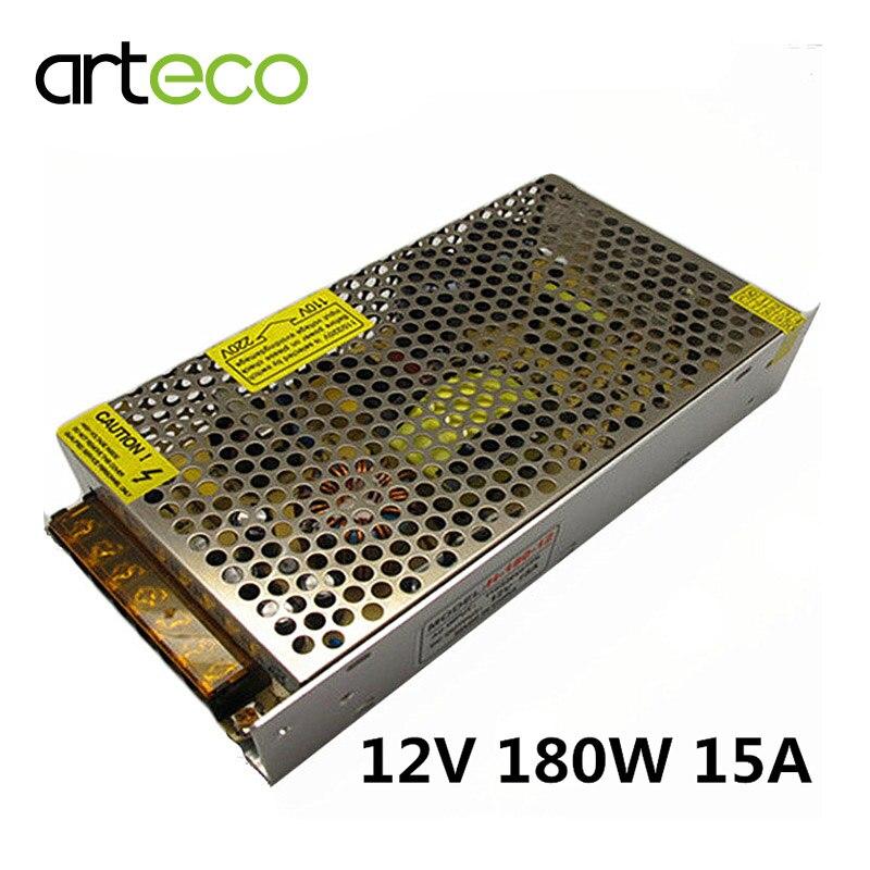 D12V 15A 180W Switching Power Supply 180W Lighting Transformer 12V LED Driver For LED strip LED Bar Light 110V/220V<br><br>Aliexpress