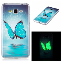 For Samsung Galaxy Grand Prime Case G530 G531 G531H Glow Case 3D Printed Skull Slim Soft Silicone Phone Cases TPU Light Cover