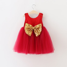 baby girl summer dresses sequins bow tulle girl lace dress high-quality goods princess party dresses 2-6y childrens clothes(China)