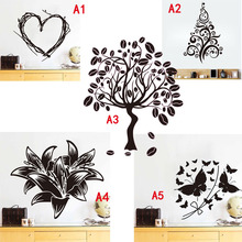 Fate mark wall stickers home decoration accessories wallpaper for kids rooms tree and flowers butterfly Heart Art Deco poster