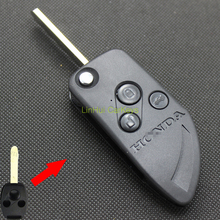 LinHui for HONDA CRV CITY ACCORD Key Case 3 Buttons Uncut Blank Cooper Blade Replace Car Key ABS Shell 1 PC With Logo