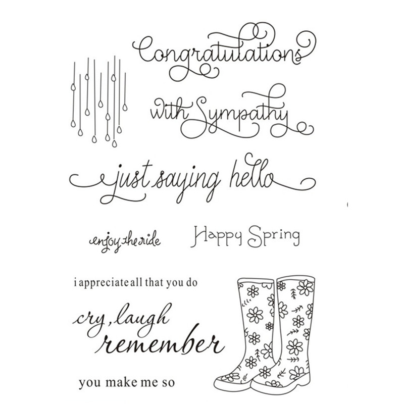 Love Happy Holidays Congrats Phrase Words Sentiments Greeting Cards Rubber Clear Stamp//Seal Scrapbook//Photo Decorative Card Making Clear Stamp