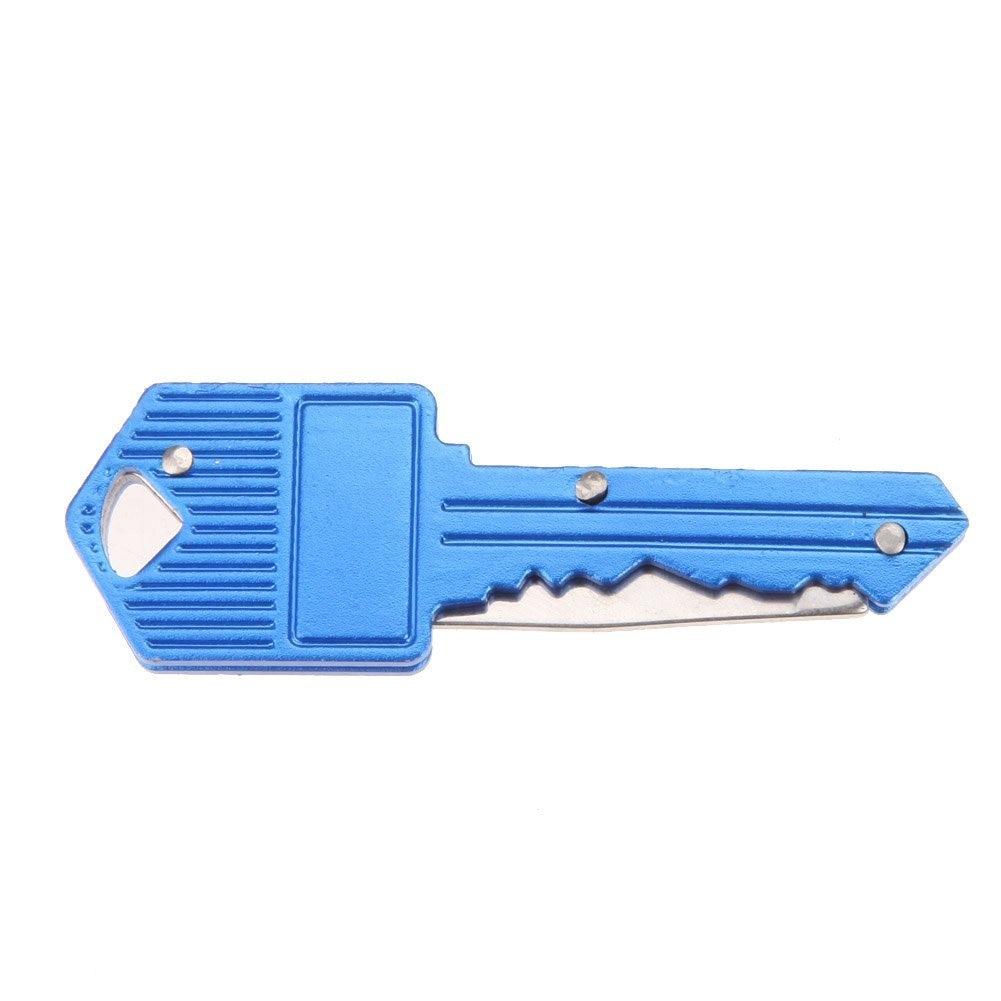 4 Color Protable Key Fold Knife Key Pocket Knife Key Chain Knife Peeler Mini Camping Key Ring Knife Tool