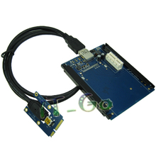 Mini PCI-e to PCI-e x1 Adapter Slot with SATA Power connector for Laptop Network card graphics card(China)