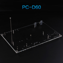 QDIY PC-D60 On Sale Personalized Transparent Acrylic Wide Open Standard ATX Chassis Nude Platform Test Bench Computer Case