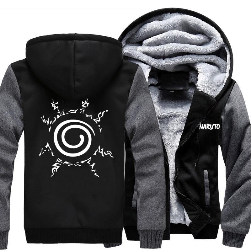 2018 autumn hot anime sweatshirt men blood youth Uzumaki Naruto Fashion brand clothing hip hop fitness men's hoodies funny