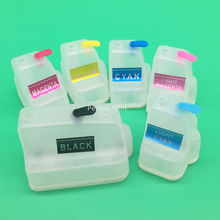 6 Color For HP177 Empty Refillable Cartridge With Permanent Chip For HP D7300 D7100 D6100 C7100 C6100 C5100 8200 3100