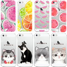 Phone Case For Apple iPhone 4 4S 5 5S SE 5C 6 6S 7 Plus 6s Plus Soft TPU Silicon Transparent Thin Cover Cute Cat Owl Animal Case(China)