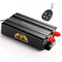 Dual SIM Card Car GPS Tracker with Open door via cell phone Cut off Oil & Power remotely TK103B+