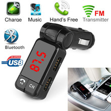1PC Hot Dual USB Car Kit Charger Wireless Bluetooth Stereo MP3 Player FM Transmitter for iPhone/Android/Other Smart Phone