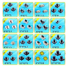 160pcs 16 Types Momentary Tactile Push Button Switch Micro SMD SMT Tact Switches Microswitch(Hong Kong)