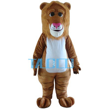 Lion Mascot Suit Adult Unisex Costume Soft Plush Zoo Animal